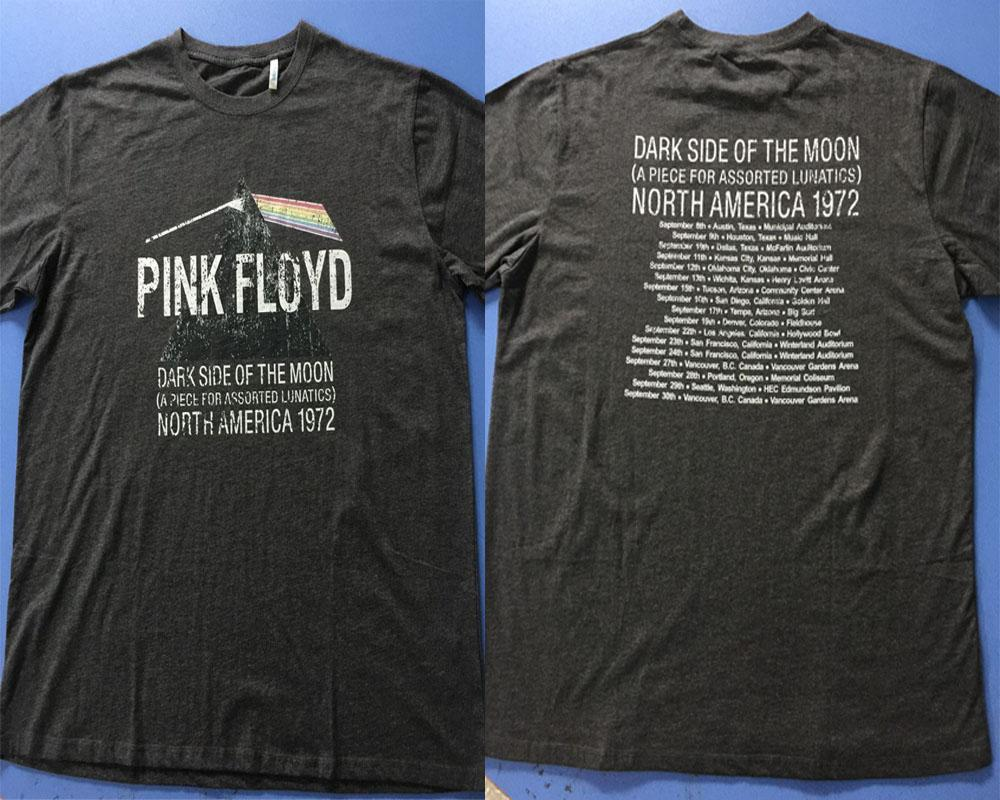 cb380920 Pink Floyd Dark Side Of The Moon North Amercia 1972 T Shirt Men Two Sides  Casual Gift Tee USA Size S 3XL T Shirt 24 Hours Buy Cool Shirts Online From  ...