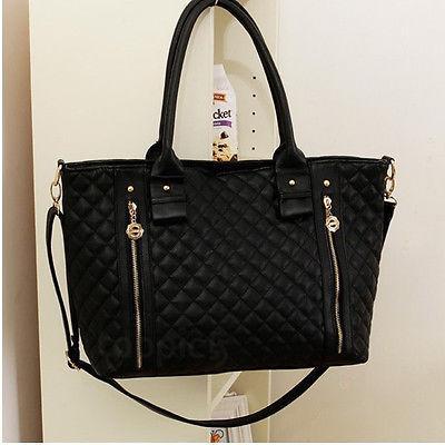 2016 новый черный ретро женщины леди PU стеганые плеча сумка Messenger Бродяга сумка кошелек