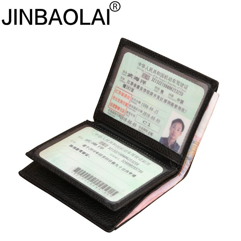 Jinbaolai Driver License Holder Leather Cover For Car Driving