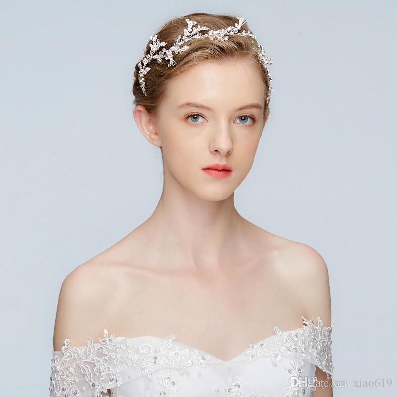 New Silver Rhinestone Bridal Headband Tiara Fashion Wedding Hair