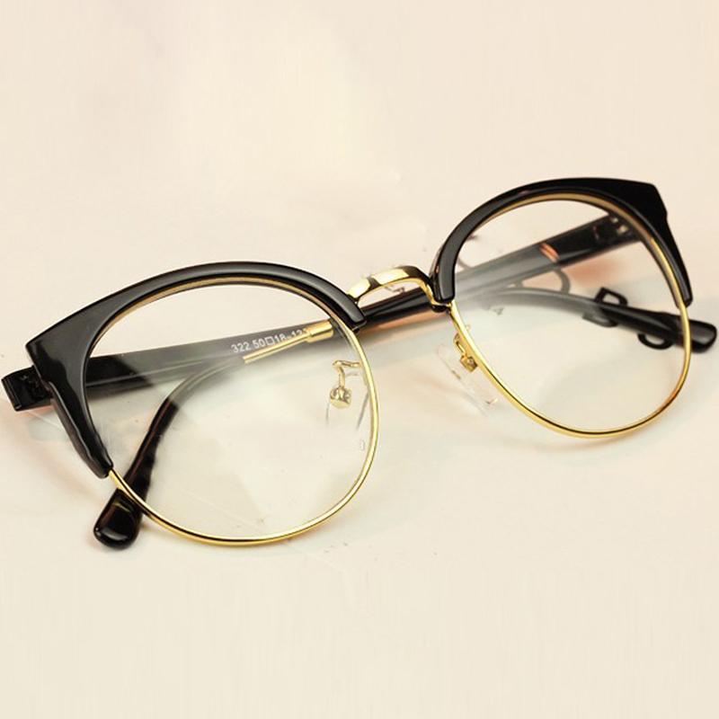 190620ccec6ac JIE.B 2017 New Fashion Women Glasses Cat Eye Frames Myopia For Men ...