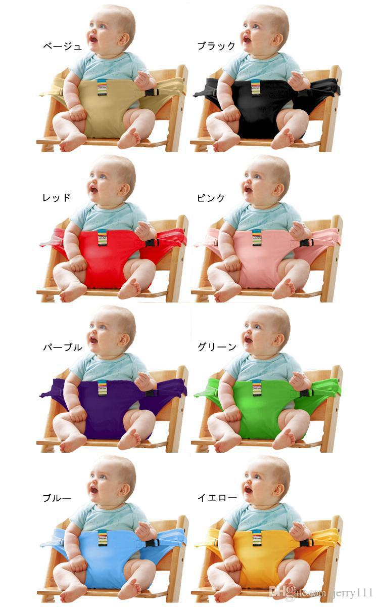 Baby Sack Seats Portable High Chair Shoulder Strap Infant Safety Seat Belt Toddler Feeding Seat Cover Harness Dining Chair Seat Belt LC679-1