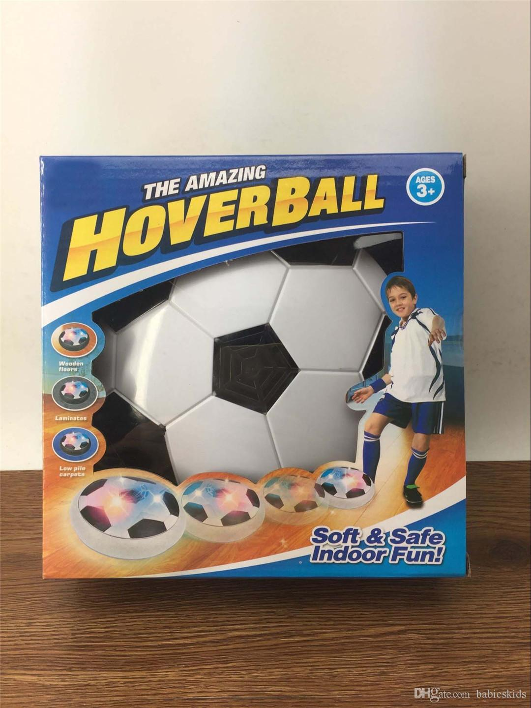 New Creative Funny LED Light Flashing Arrival Air Power Soccer Ball Disc Indoor Football Toy Multi-surface Hovering And Gliding Toy