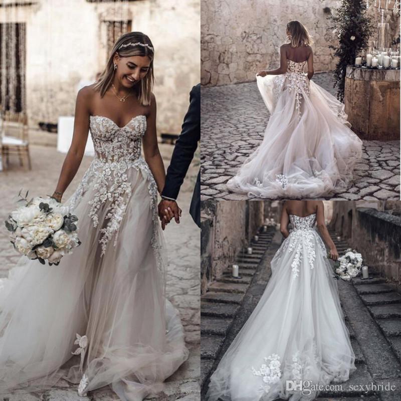 compre romántico croset vestidos de novia falda de tul encaje con