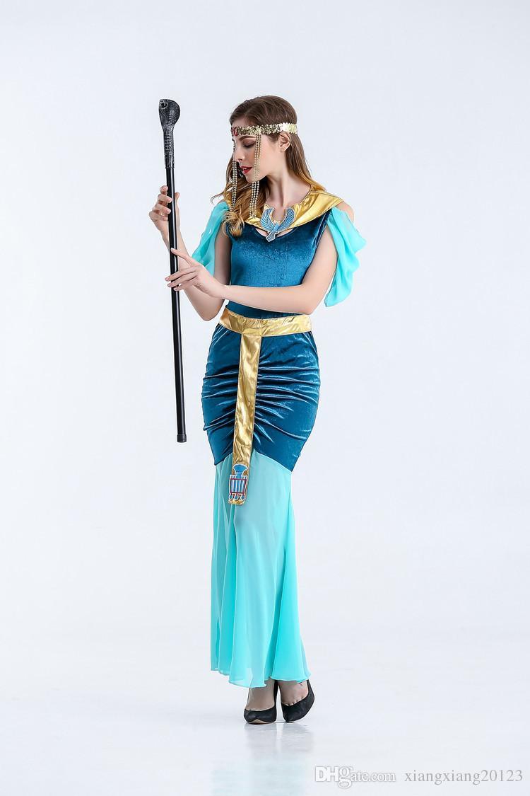 european and american european cleopatra costume, greek goddess