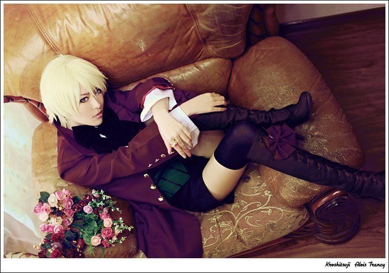 New Black Butler II Kuroshitsuji Alois Trancy Cosplay Costume Uniform Outfit+Ring Halloween Adult Costumes for Women/Men S-XL