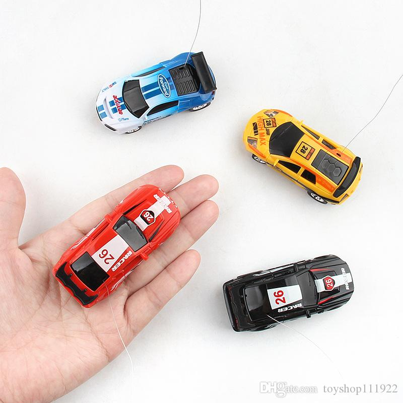 DHL free Mini RC Racing Car 1:45 Coke Zip-top Pop-top Can 4CH Radio Remote Control Vehicle LED Light remote Toys for Kids