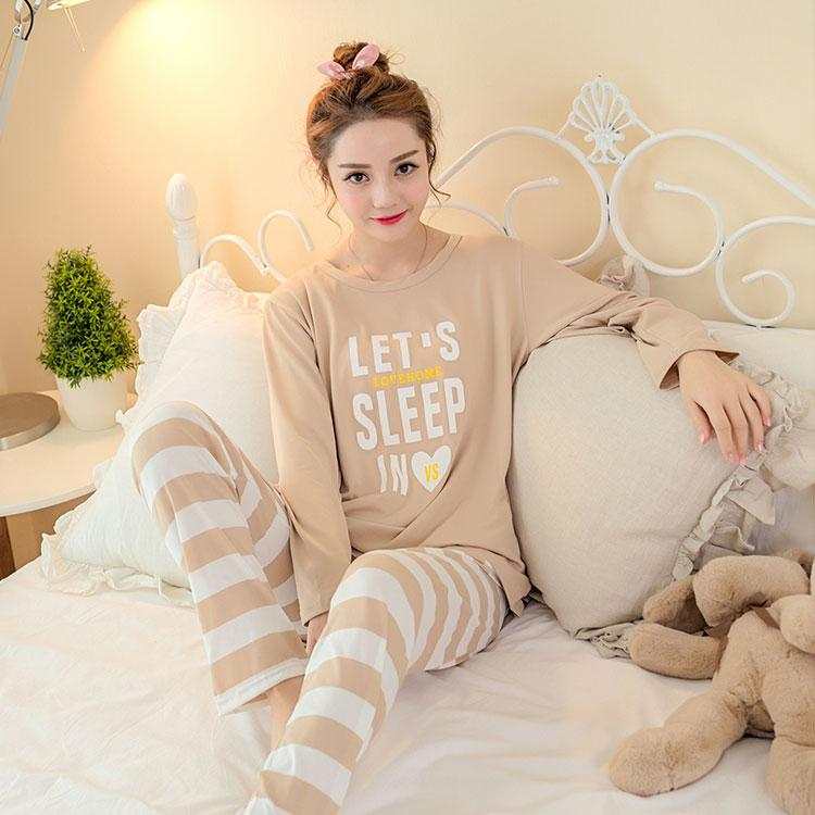 034864f92686 2019 Lady Long Sleeve Pajamas Set For Autumn Winter Women Cute Cartoon Milk  Silk Home Clothing Suit Female Christmas Gift Sleepwear From Tutucloth