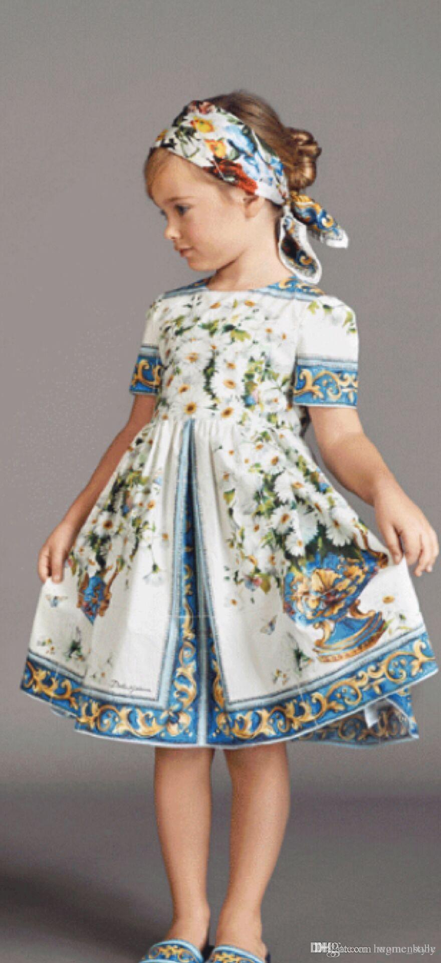 Großhandel Neue 2018 Mädchen Sommerkleid Kinder Kleidung Mädchen ...