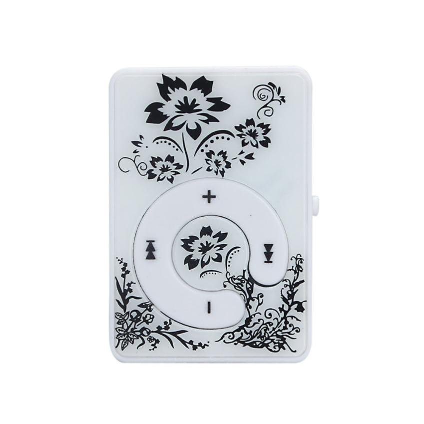 Hot Sale Fashion Mini Clip Flower Pattern Mp3 Player Music Media
