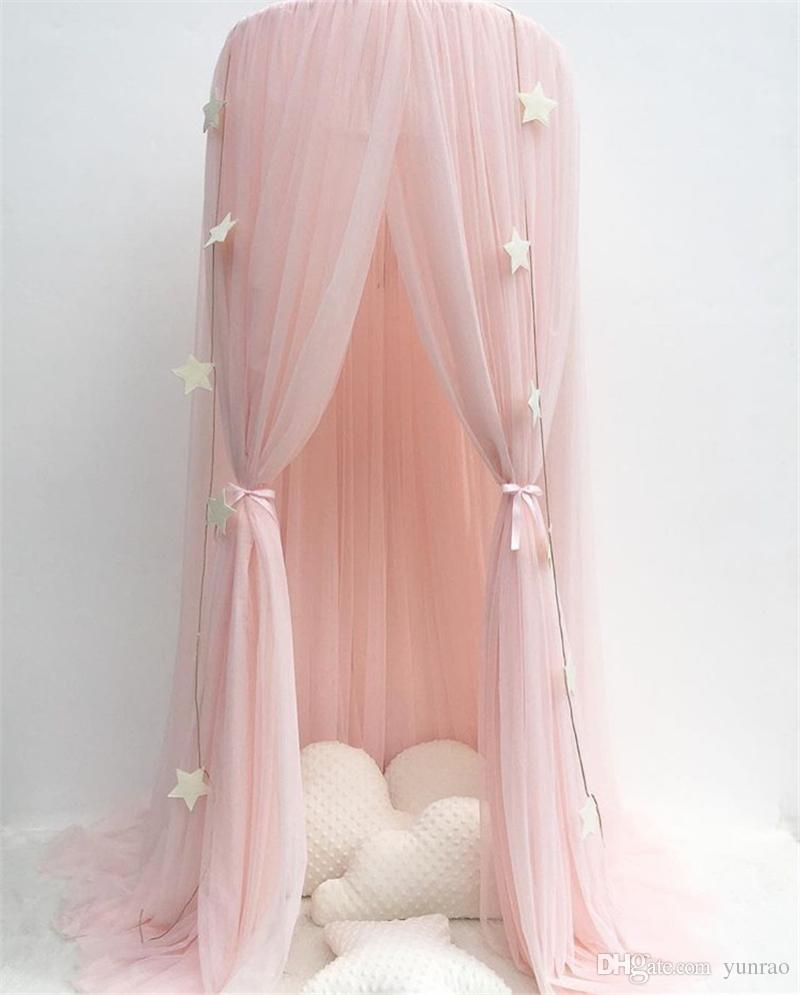 Princess Bed Pink Canopy Mosquito Net Yarn Play Tent Bedding For Kids Playing Reading Dome Netting Curtains Baby Boys And Girls Games Room Cocalo Crib ... & Princess Bed Pink Canopy Mosquito Net Yarn Play Tent Bedding For ...