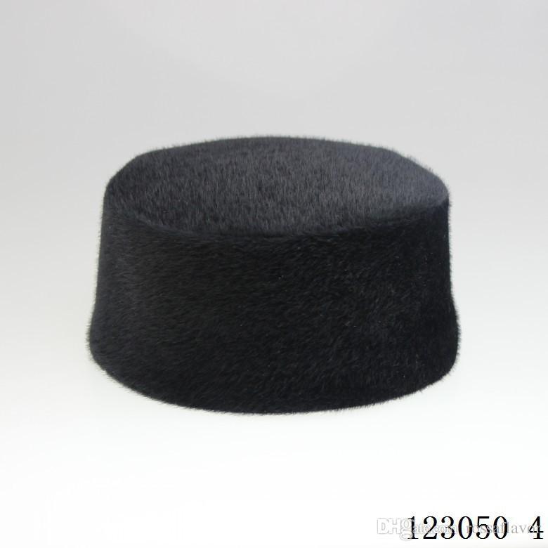 Increíble invierno hombres musulmanes sombrero café oscuro color cálido gorra con superficie de gamuza hombres musulmanes tapa envío libre Venta caliente Envío gratis Alta calidad