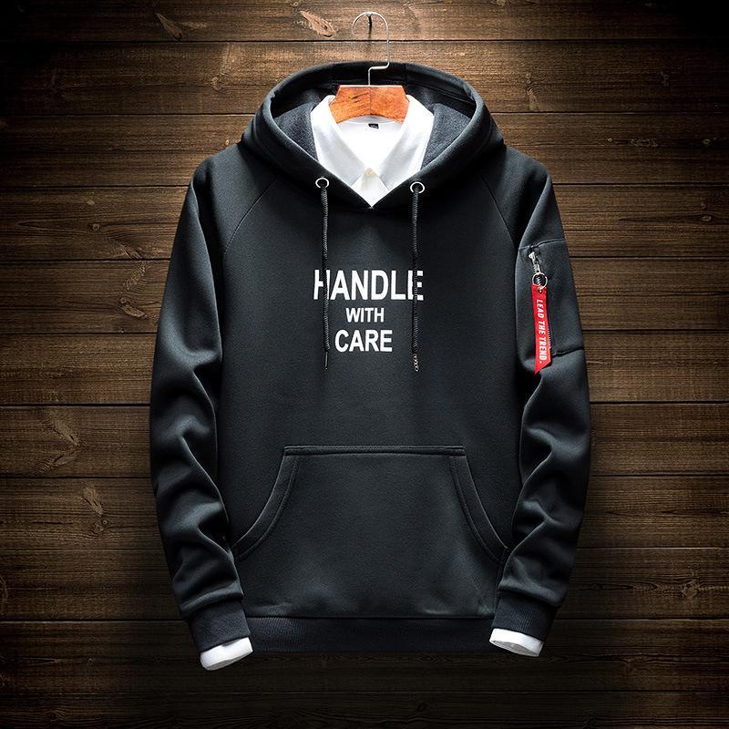 e5f08099161d Fashion Designer Hoodies For Men Korean Version Casual Youth ...