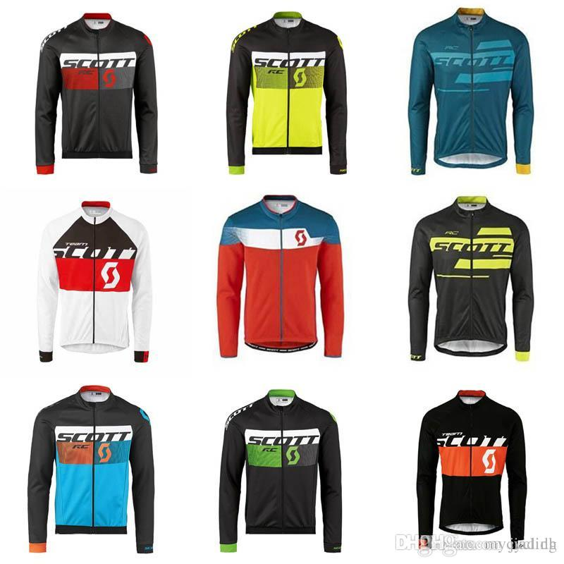 Men s SCOTT Cycling Jersey MTB Bike Shirt Bicycle Clothing Ropa Ciclismo  Hombre Breathable Quick Dry Long Sleeve Racing Tops F0902 Scott Cycling  Jersey Men ... 57189c28a