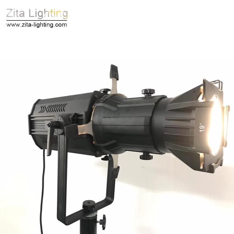 Zita Lighting 200W LEKO Spot LED Pro Eclairages ellipsoïdaux Image Photography Spot Lights Éclairage de studio Mise au point Zoom Scène suivante