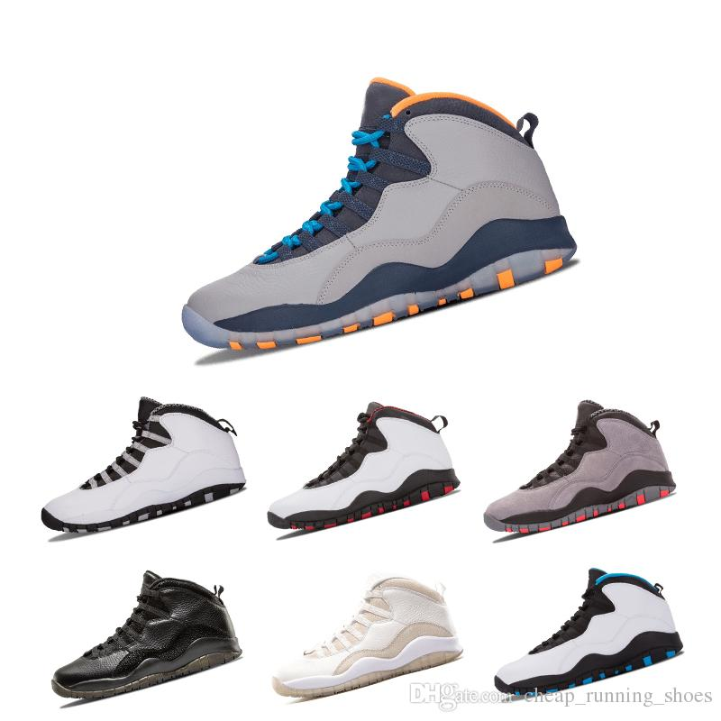 9cd99a13dce708 New 10 10s Men Basketball Bobcats Chicago Cool Grey Powder Blue Steel Grey  Black White Shoes Sport Sneakers Size Eur 41 47 Shoes For Men Athletic  Shoes From ...