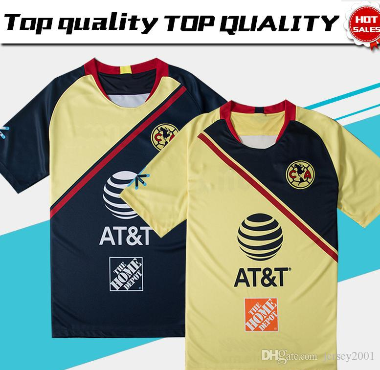 7bd50c015f1 2019 2019 Club De Futbol America Home Soccer Jersey 18/19 Club De Futbol  America Away Soccer Shirt Customized Mexico Club Football Uniform Sales  From ...