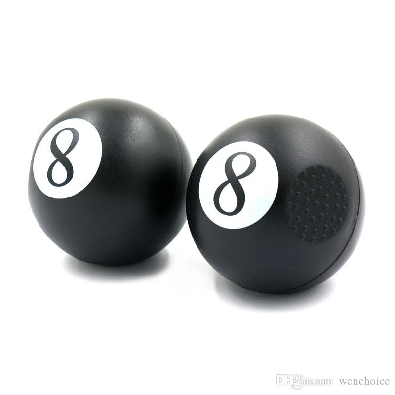 KKDUCK Lovely Smile Black 8 Table Ball Type Plastic Cigarette Hand Tobacco Grinder Crusher Hand Muller Grinder