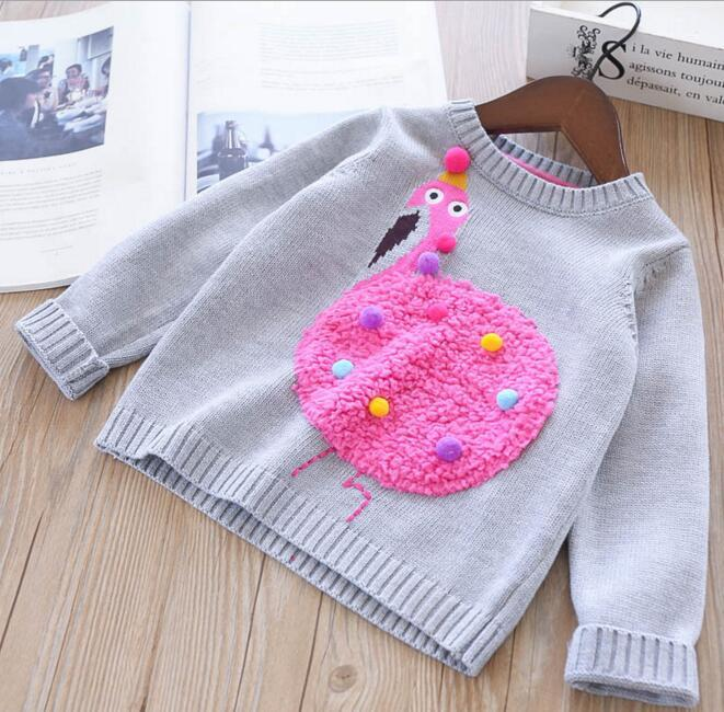054f2a1e0c8a2 Girl Kids Clothing Cardigan Sweaer Round Collar Cartoon Ortrish Design Long  Sleeve Knitted Sweater Girl Pullover Sweater Toddler Sweater Patterns  Pullover ...
