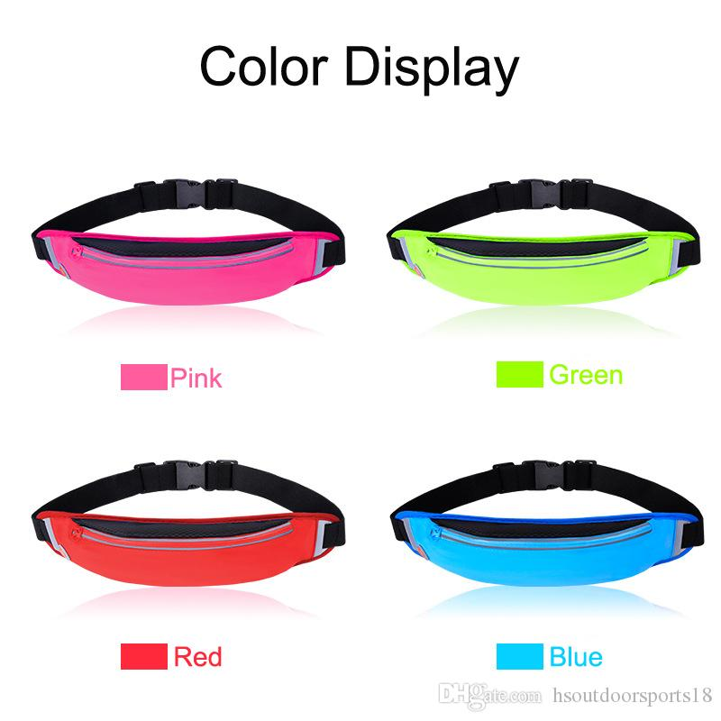 Fashion Colorful Lycra Breathable Sport Fanny Pack Waist Bag for Outdoor Sports as Jogging,Walking,Hiking,Cycling,Carrying