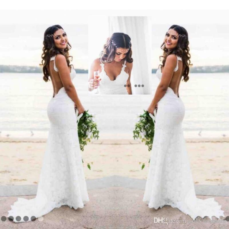 Mermaid Beach Lace Wedding Dresses Katie May Modest Spaghetti