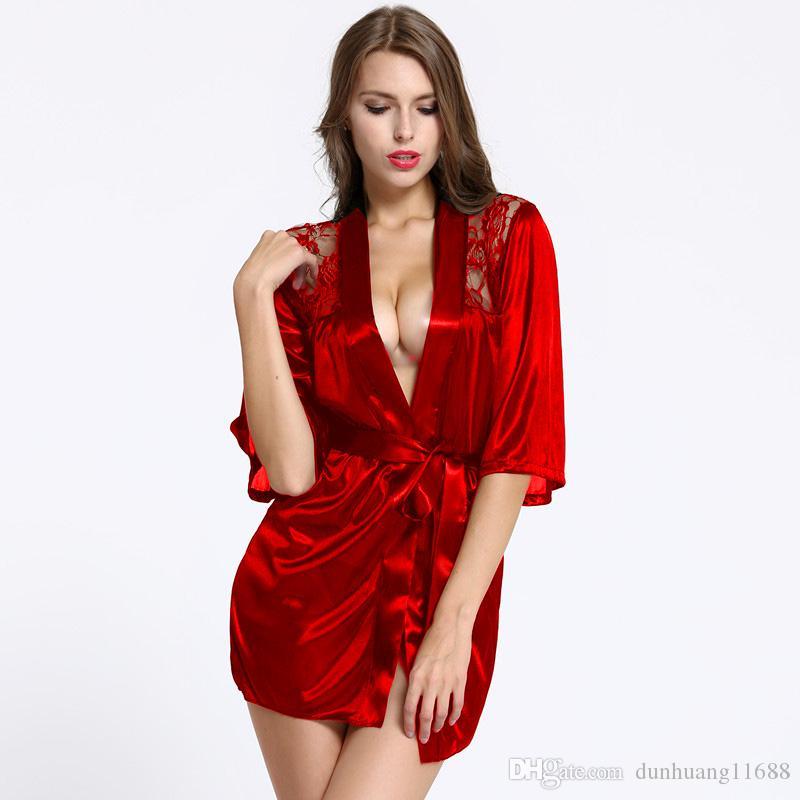 cae43c5a5 Compre Intimate Lingerie Sexy Moda Mulheres Roupa Interior Erótico Robe  Pijama Vestido Kimono Pijama Roupão De Banho Íntimos Sexuais Roupa Interior  Do Bebê ...