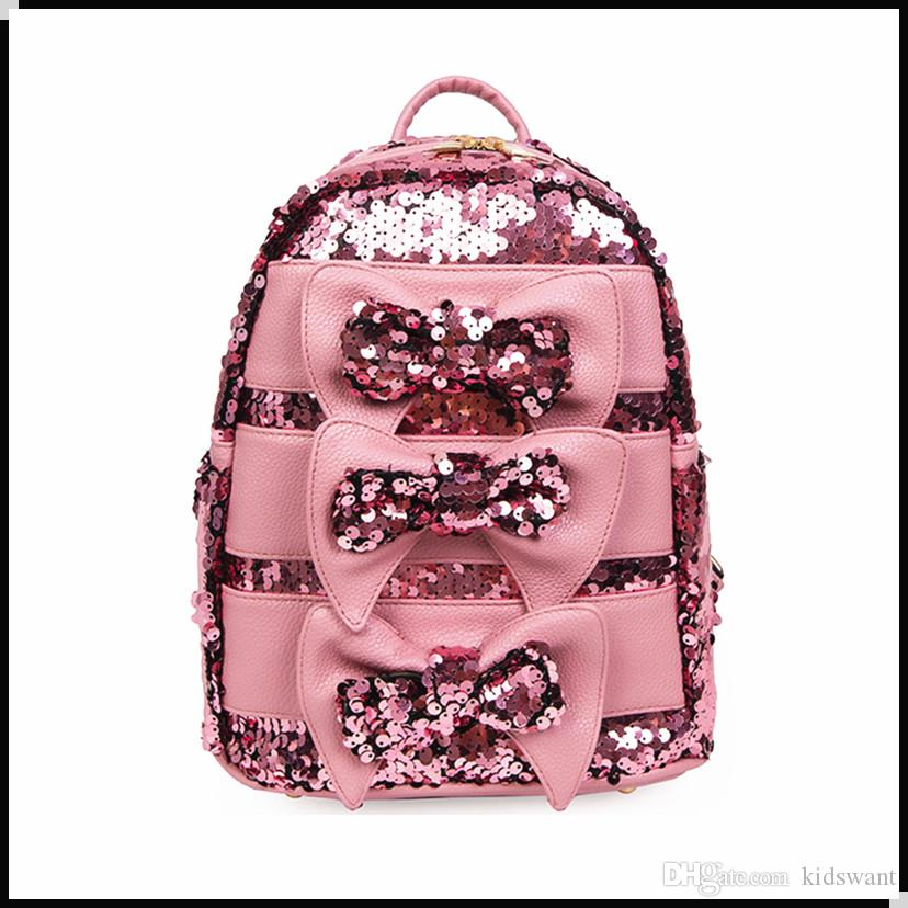 New Fashion Sequins Kid Girl Backpack Chic Style Kids Backpacks