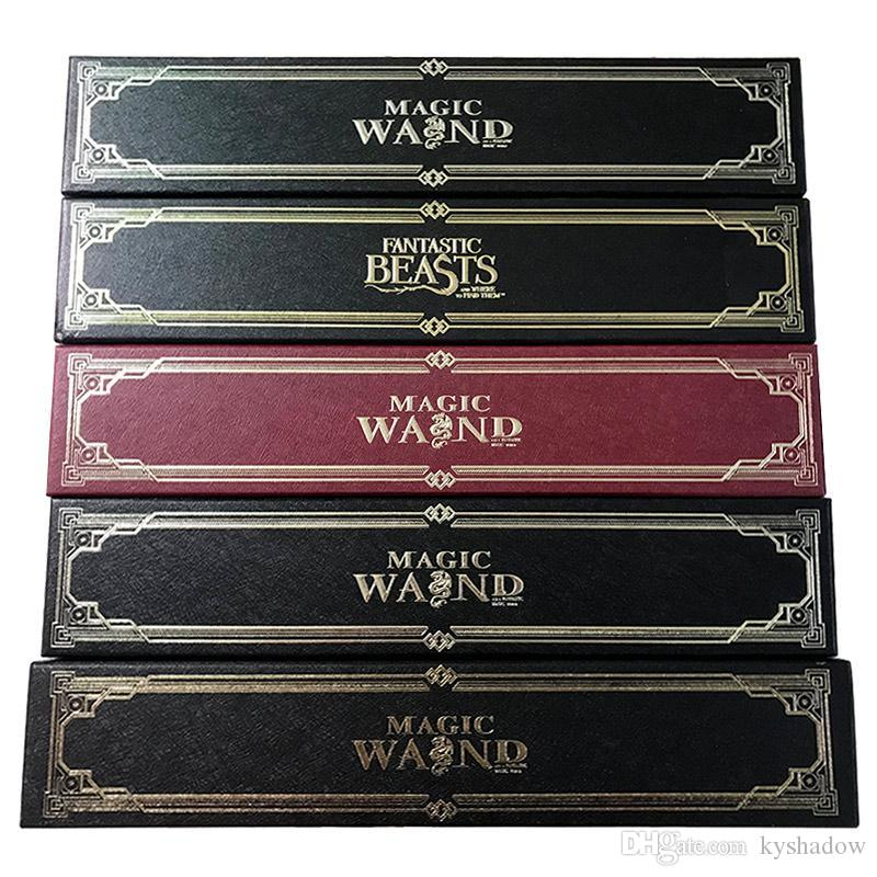 HOTSALE Harry Potter Magic Wand with Ollivanders Wand Box 48 Roles Hermione Voldermort Magic Wands with Metal Core Halloween Cosplay Novelty