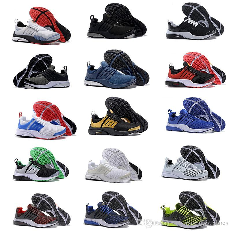 separation shoes c8fc1 ebbe6 Acheter NIKE Air Presto Ultra Low 2018 Basketball shoes Olympique Respirer  Noir Blanc Sneakers Chaussure 2018 Femmes Hommes Sports Chaussures De  Course ...