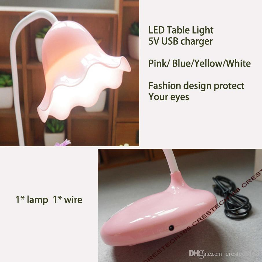 LED Desk Lights Table lamps Folding Eye-friendly 4 Light Color Temperature Book Light with USB charging