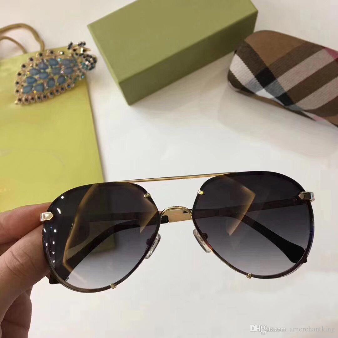 Großhandel Burberry Flat Top Sonnenbrille Goldrahmen Des Neuen Art ...