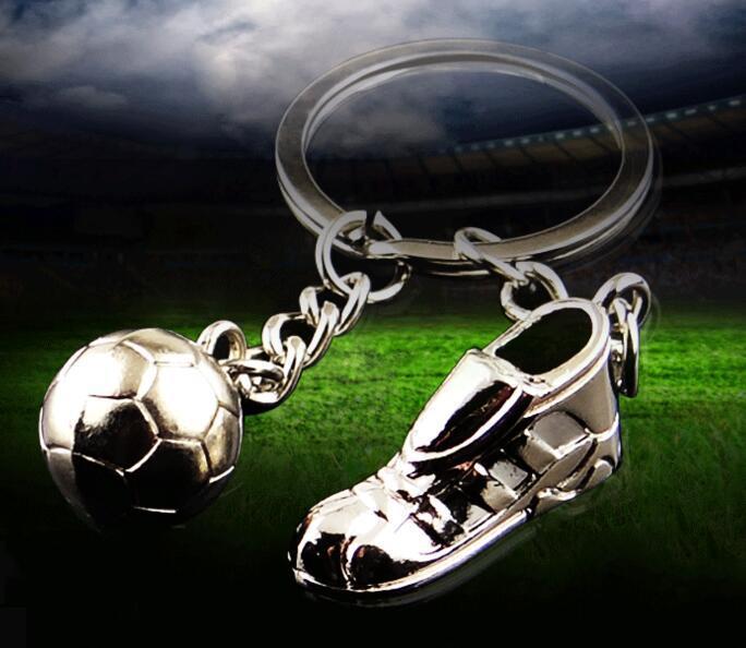 Métal Chaussures De Football Porte-clés Accessoires Boule De Football Porte-clés Anneau Hloder Mode Homme Voiture Pendentif Femmes Sac Charme Pendentif NN