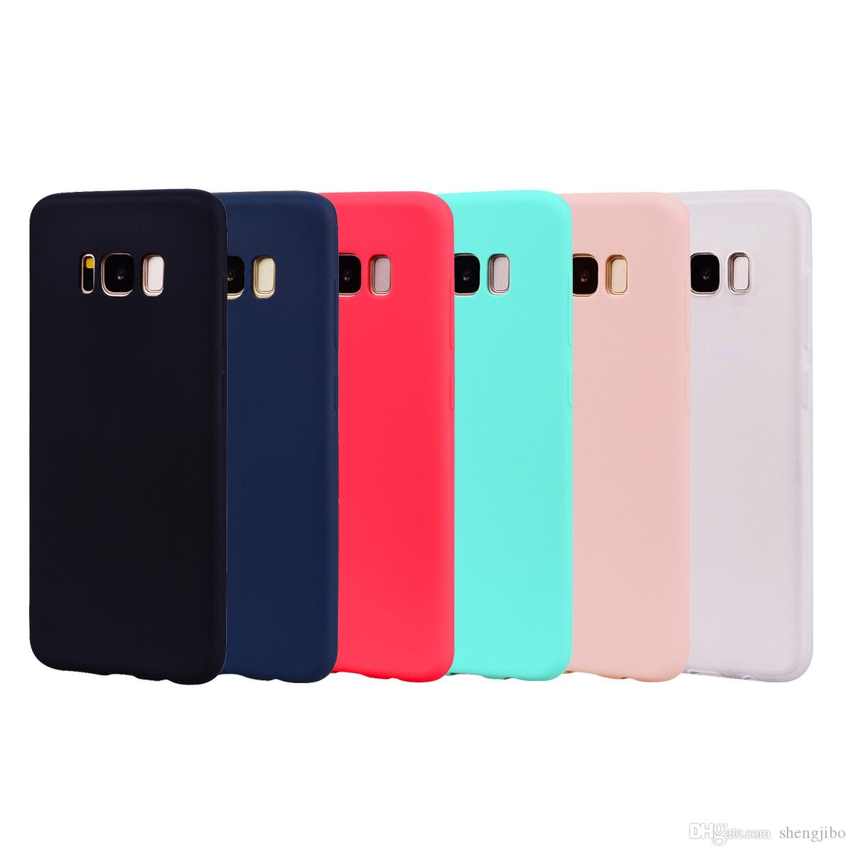 reputable site 35606 6e9a5 Silicone Case For Samsung Galaxy S6 S7 Edge S8 Plus Phone Bag Case Rubber  Matte Cute Back Cover For Samsung Galaxy A5 2017