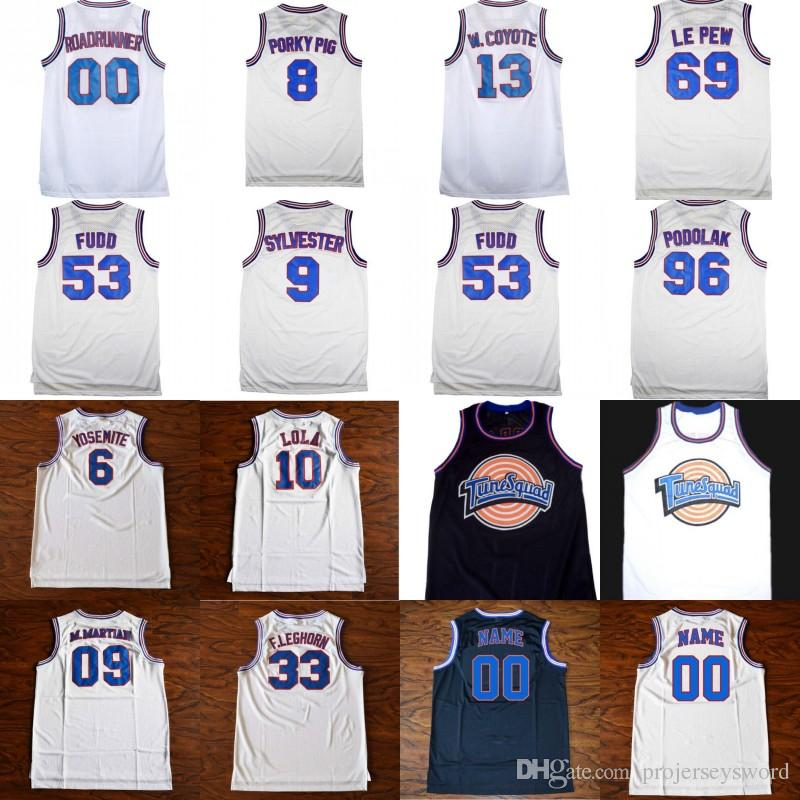 02c1d03d30a 2019 Mens Tune Squad Space Jam Custom Movie Jersey ROADRUNNER LOLA FUDD  PORKYPIG SYLVESTER W.COYOTE F.LEGHORN LE PEW PODOLAK Basketball Jerseys  From ...
