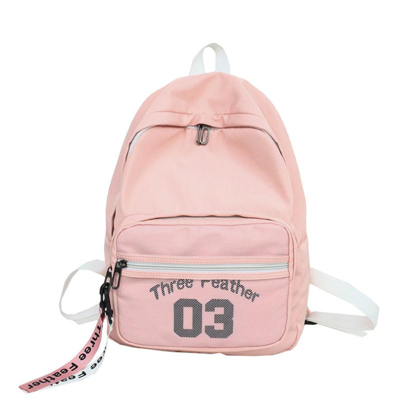 2018 Female Women Nylon Backpack Preppy Style School Back Pack for Teenage  Girls Student School Bags Travel Cute Mochila Bolsas Online with   46.39 Piece on ... 062406a180a06