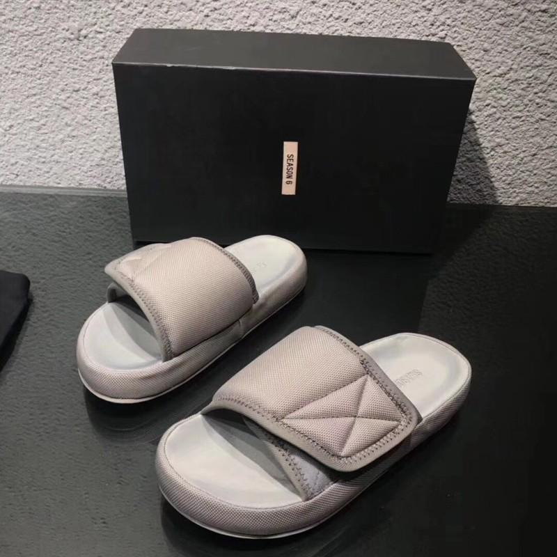 6c2f7a4726e38f Kanye Season 6 Nylon Waterproof Slippers Luxury Vintage Fashion Men Women  Flip Flops Sandal Classic Summer Indoor Outdoor Slippers HFYMXZ035 Boots  For Women ...