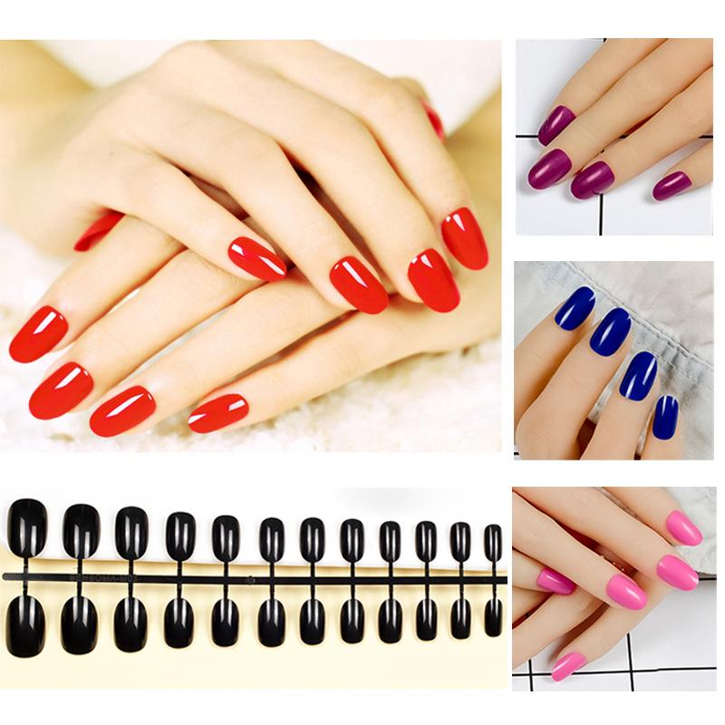 Fashion Full False Nails Candy Tips 10 Style Acrylic Artificial ...