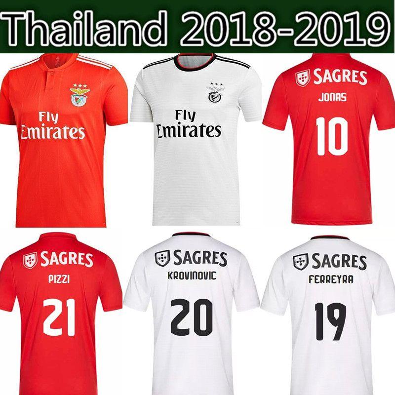 18 19 Benfica 10 Jonas Soccer Jersey 18 19 Home Red SEFEROVIC GABRIEL  KALAICA SALVIO Soccer Shirt Away ZIVKOVIC ELISEU Football Uniforms UK 2019  From ... 24b906a35