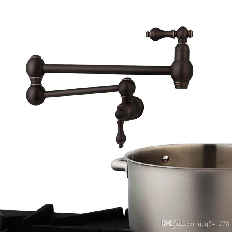 100% Solid Brass Pot Filler Tap Wall Mount Kitchen Faucet Single Cold Single Hole Tap Multiple colors tap