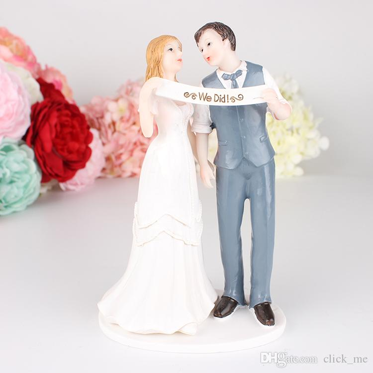 Acquista Abbiamo Sposato Wedding Cake Topper Bridal Supply Coppia Di Sposi  Sposa Sta Condividendo Wedding Eventi Decorazioni Wedding Dolls A $16.09  Dal