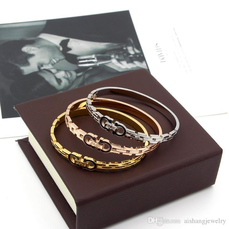 UpPoint PB60 new fashion copy watch band black double D style gold plate bangle for gift free shippin