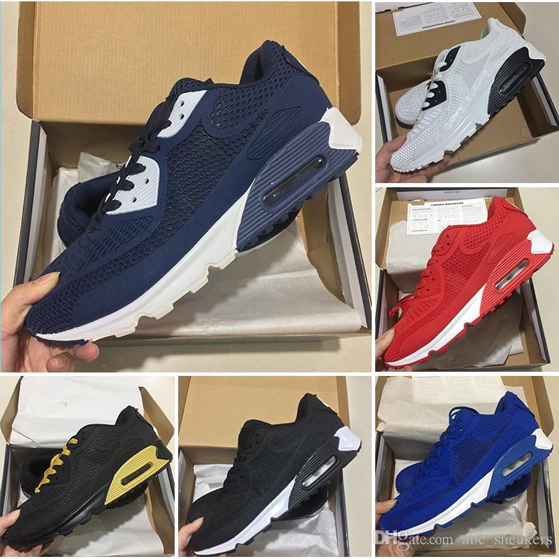 new concept 74155 11854 Acquista Scarpe Da Ginnastica Da Uomo Classiche Nike Air Max 90 Kpu  Sneakers Ultra Id Scarpe Da Corsa Uomo E Donna Nero Rosso Scarpe Sportive  Da Allenamento ...