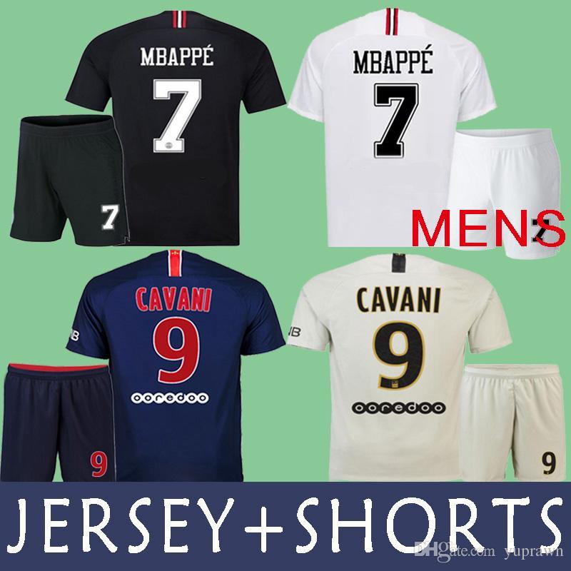27c2fa200e Compre 18 19 Uniforme PSG Jordan Camiseta De Fútbol Soccer Jersey PSG Kits  NEYMAR JR DANI ALVES MBAPPE 2018 2019 CAVANI PARIS SAINT GERMAIN Camiseta De  ...
