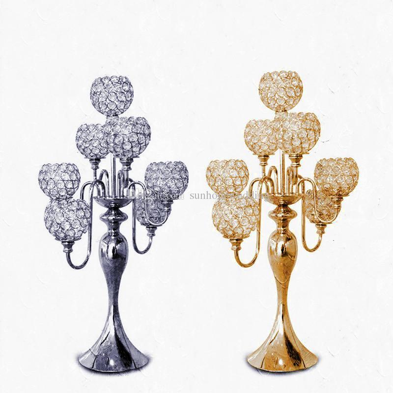 crystal beaded wedding aisle pillar table centerpieces for weddings decor new