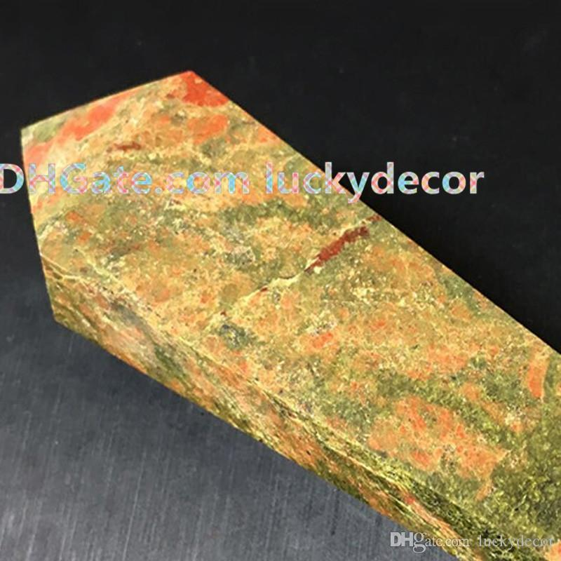 Unakite Jasper Point Crystal Pipe Quality Polished Stone Natural Gem Semi Precious Gemstone Wicca Reiki Healing Chakra Crystal Smoking Pipe