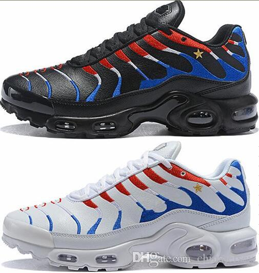 88e7bb503a091 2019 50% Off National Flag World Cup Air Cushion Plus TE Running Shoes Mens  Womens Tn White Sports Sneaker Athletic Walking Trainers Shoes 36 46 From  ...