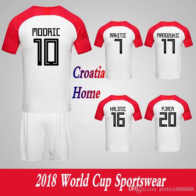 fe18ea0cc9c Men s Clothing Croatia National Team Home Football Sport Suits 2018 World  Cup Soccer Uniform Clothes Shorts