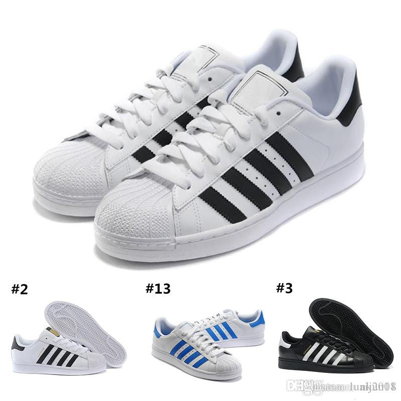 new style 40607 56e9b Großhandel Adidas 2018 Superstar Original White Hologramm Schillernden Junior  Gold Superstars Turnschuhe Originals Super Star Damen Herren Sport  Laufschuhe ...
