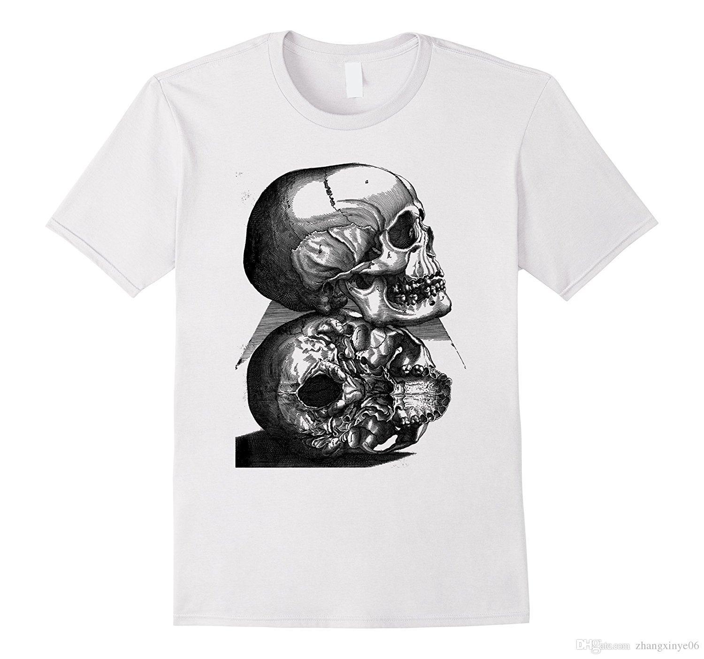 Human Skull Vintage Antique Medical Biology Diagram T Shirt Awesome