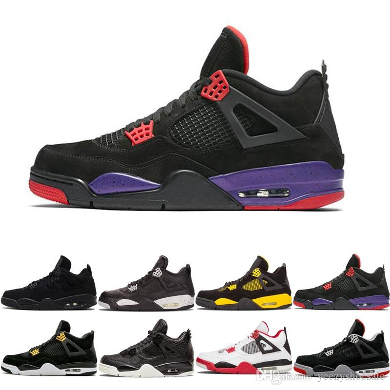 8457847db7080c Mens 4 Basketball Shoes Military Motosports Blue Alternate 89 Pure Money  White Cement Royalty Bred Fire Red Black Cat Oreo Sport Sneakers Basketball  Games ...